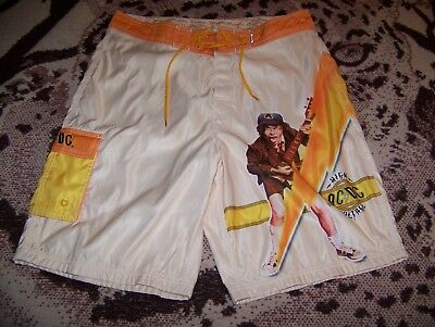 NEW Vintage AC/DC HIGH VOLTAGE Dragonfly Swim Suit Trunks Surf Board Shorts 34