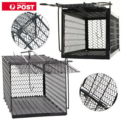 2Pcs Large Humane Live Animal Trap Possum Fox Rat Cat Rabbit Hare Catcher Cage