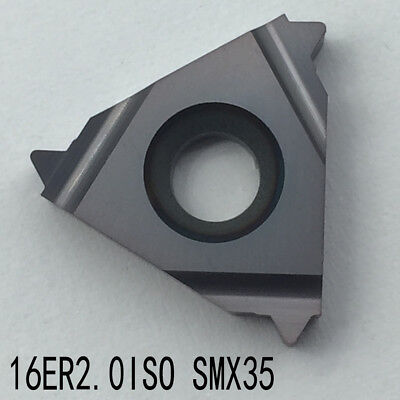 10pcs 16ER 2.0ISO SMX35 carbide inserts threading turning inserts for steel