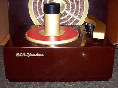 Rca Victor 45-J 45 Rpm Record Player Changer Turntable Phonograph - Restored '50