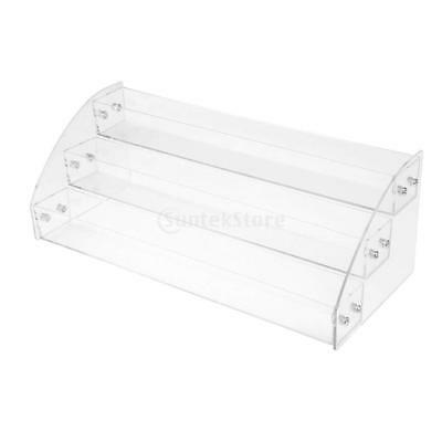 Clear 3 Tiers Nail Polish Varnish Cosmetic Display Stand Rack Organizer