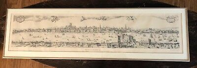 """Visscher's View Of London 1616, The Folger Shakespeare Library Press, 34"""" X 8"""""""