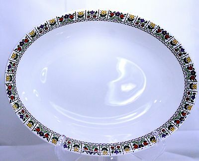 Royal Doulton Fireglow oval Vegetable Serving Bowl TC 1080 Lovely Colors