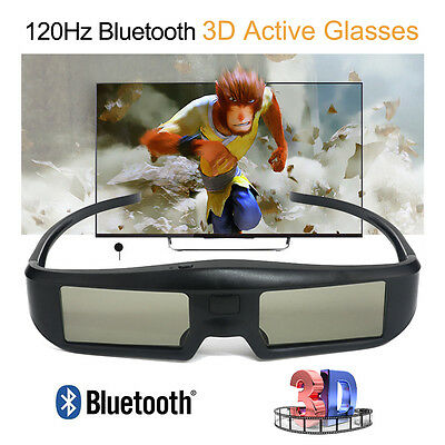 120Hz 3D Bluetooth Active Shutter Glasses Rechargeable For Sony Samsung Sharp