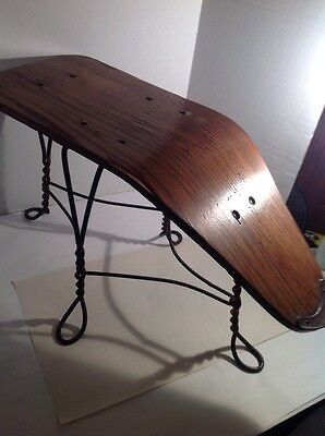 Antique Shoe Store Measuring Bench Wire Chair Co Twisted Iron Legs Vintage