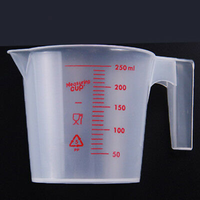 250ml plastic clear measuring cup handle liquid pour spout home kitchen tools E&