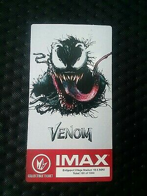 Marvel Venom IMAX Collectible Regal Ticket & Poster Code Tom Hardy