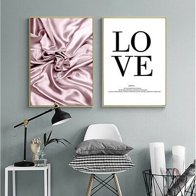 Love Quote Wall Art Canvas Nordic Poster Abstract Print Living Room Decoration