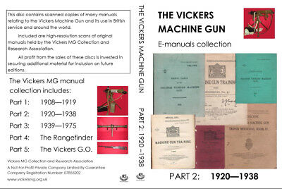 Vickers Machine Gun Manuals Collection: 1920 to 1938 (PDFs and JPGs on DVD)