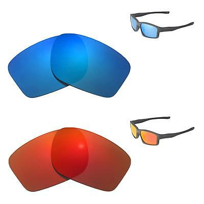 7f7fc97024 Walleva Fire Red + Ice Blue Polarized Replacement Lenses For Oakley  Chainlink