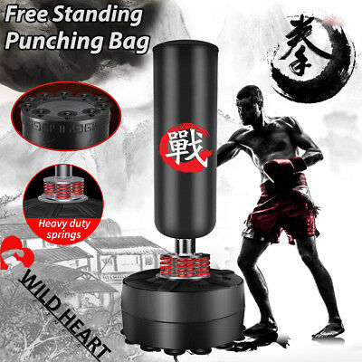170cm Free Standing Punching Bag Boxing Gloves Home Gym MMA Target Dummy Kick