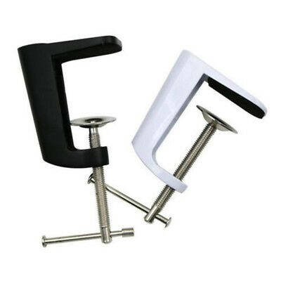 0-56mm Desk Clamp Table Lamp Mount Stand Metal Swing Arm Clip Holder Black Tool_