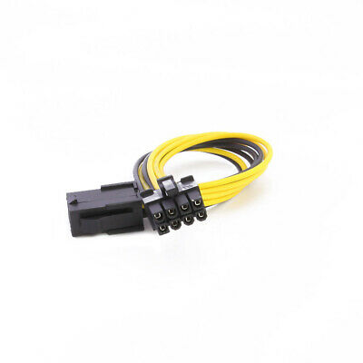 6 Pin to 8 Pin PCI Express PCI-E Video Card Power Adapter Converter Cable Wire