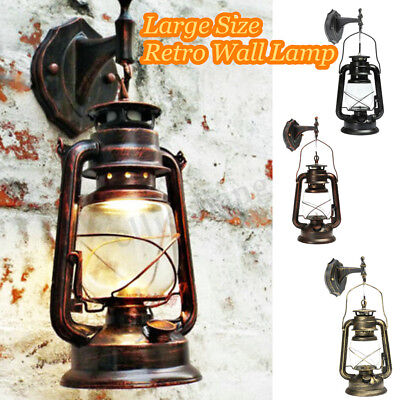 Vintage Garden Wall Light Waterproof Bronze Aluminum Outdoor Lamp Retro Lantern