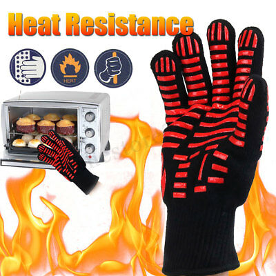 Extreme Heat Resistant Fireproof BBQ Gloves Grilling Cooking 932℉(500℃) Winter