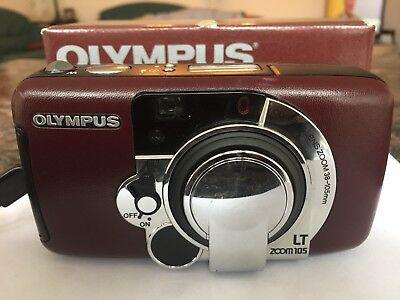 Olympus Superzoom LT zoom 105 Leathertec 35mm Kompaktkamera