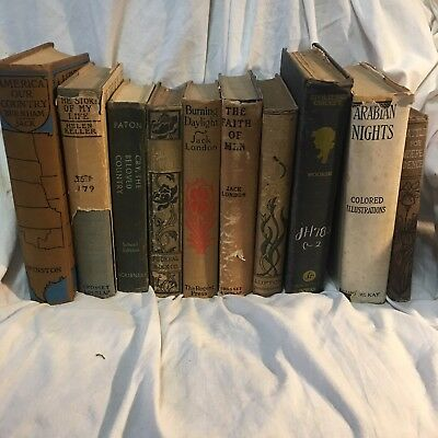 Vintage Lot of Books Helen Keller, Arabian Nights, Jack London & More