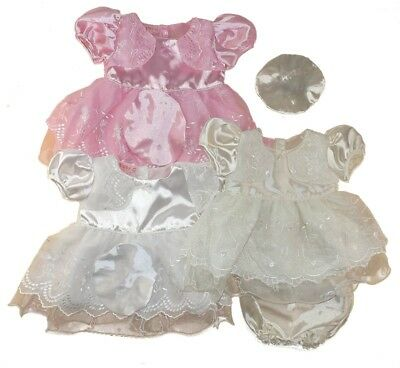 Baby Girl Christening Party Lace Dress Spanish 0-9 m Pink/ Ivory White/Cream