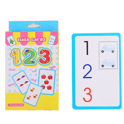 36 Flash Cards Learning English Spelling Number Letter Game Educational For Kids