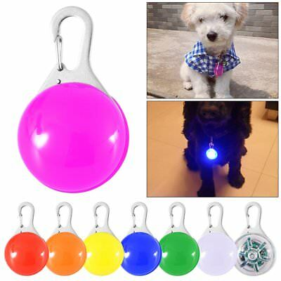 New Dog Cat Pet Led Night Light Collar Buckle Pendant Leash Flashing Clip Charms