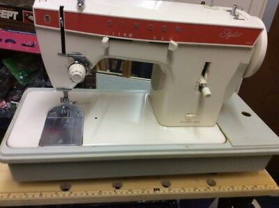 Singer Stylist 367 classic sewing machine working order vintage retro 1970s rare