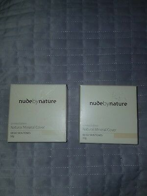 Nude By Nature Powder make up foundation beige natural mineral brand new 10g
