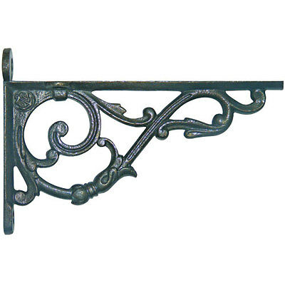 Pair of Victorian style cast iron shelf brackets 170mm x 115mm approx
