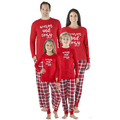 Christmas Family Matching Pajamas Set Adult Mens Womens Kids Sleepwear Nightwear