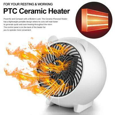 Low Noise 250W PTC Ceramic Oscillating Heater Electric Home Space Heating Fan UK