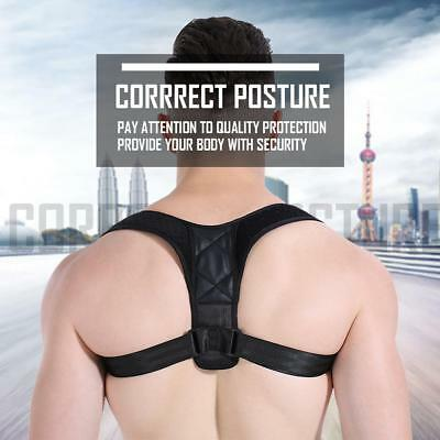 Adjustable Posture Corrector Shoulder Support Back Pain Brace Band Belt Unisex
