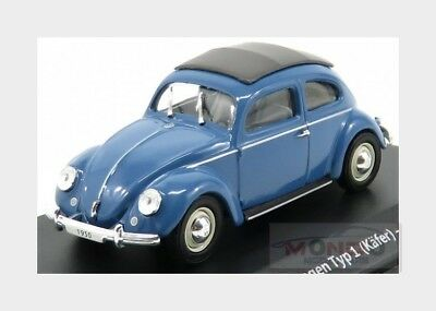 Volkswagen Beetle Type I Kafer Cabriolet Closed 1950 Blue EDICOLA 1:43 ED7225001