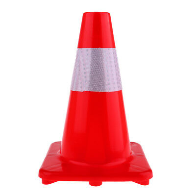 Reflective Safety Road Traffic Cone Soccer Roller Skating Safety Marker Red
