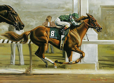Genuine Risk Photo From Oil Painting 1980 Kentucky Derby Horse Racing