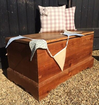 Solid Pine Blanket Box / Coffee Table Or Toy Box, Painting Project