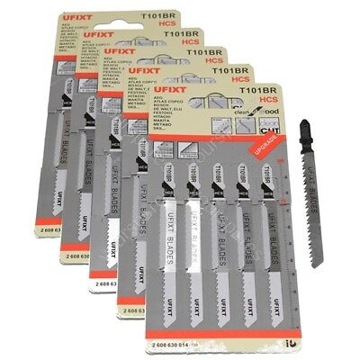 25 x Quality Jigsaw Blades Wood T101BR fit Bosch, Dewalt, Makita, Festool etc