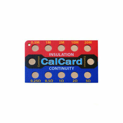 CalCard Resistance Calibration Checkbox - Insulation/Continuity - New In Stock