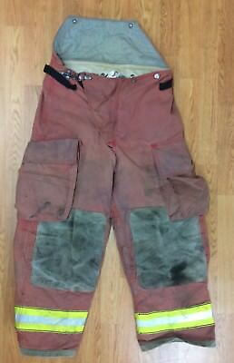 Firefighter Red Bunker Turnout Pants 34 x 28 Globe