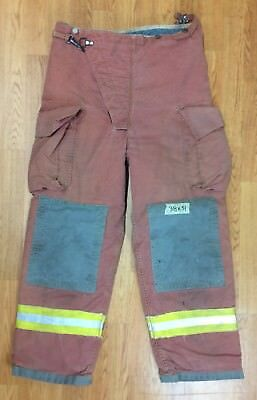 Firefighter Red Bunker Turnout Pants 38 x 31 Quest