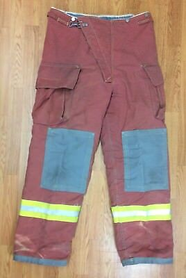 Firefighter Red Bunker Turnout Pants 40 x 33 Quest