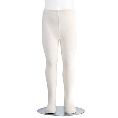 Ivory Piccolo Heavyweight Opaque Girls Tights 2-4