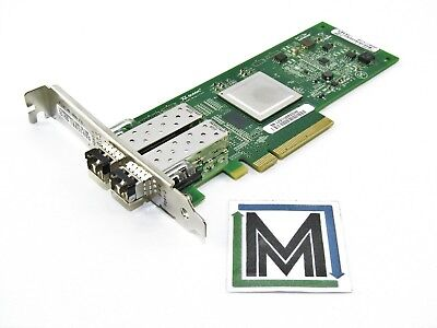 QLOGIC QLE2562 DUAL PORT 8GB/s FIBRE PCIe ADAPTER w/ 2x SFP 06T94G PX2810403