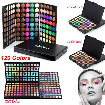 Pro EyeShadow 40/120/252 Colors Makeup Cosmetic Palette Shimmer Matte Eye Shadow