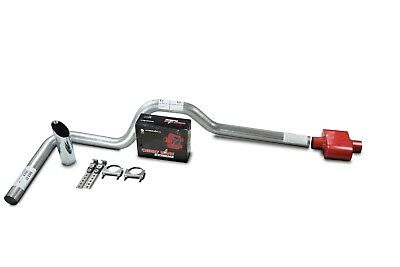 DIY dual exhaust system 2.5 pipe Flowmaster Super 44 SC Tip Truck Exhaust Kits