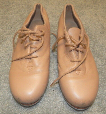 Size 5 1/2 N--Bloch Brand Flex Tap Shoes--Tan--See Photos--Near Excellent