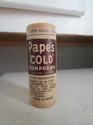 Vintage-Medicine-Pape's COLD Compound Sealed-Unopened-NOS ESTATE FIND