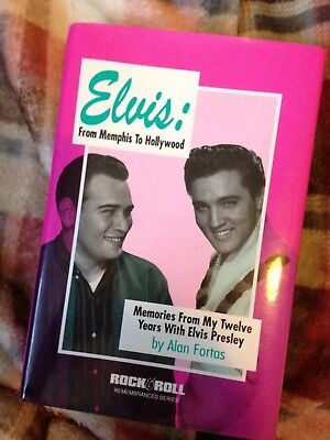 Elvis Book: From memphis to Hollywood by ALAN FORTAS ~ HARDBACK 1992 RARE