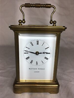 Matthew Norman Carriage Clock. 8 day. Completely overhauled and serviced