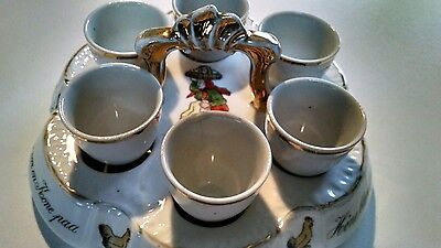 Very Unusual, Rare, Old, German 6 place Egg Server !!!