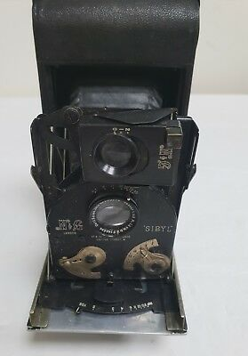 Antique Rare (Early 1900S) Newman & Guardia (N&g) Sibyl Model 16 Camera In Case