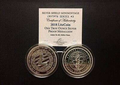 "2018 Silver Shield MiniMintage ""Crypto"" Series #3 - 1 oz. LiteCoin Proof Round"